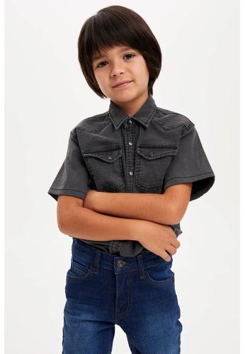 DeFacto grey Short Sleeve Shirt 5A3A7KA825CA4FGS_1