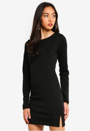 MISSGUIDED black Bodycon Mini Dress 9CC85AA5CD1FF3GS_1