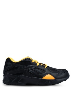 Reebok black and white and gold Classic Gigi Hadid X Reebok Aztrek Sneakers  A198CSHDF5E80FGS 1 21c01a4ef