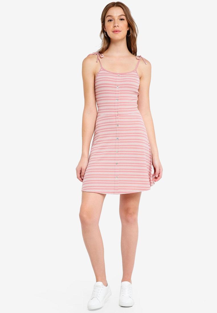 Cami Blush ZALORA Dress Stripes Knit Multi RxYHx7
