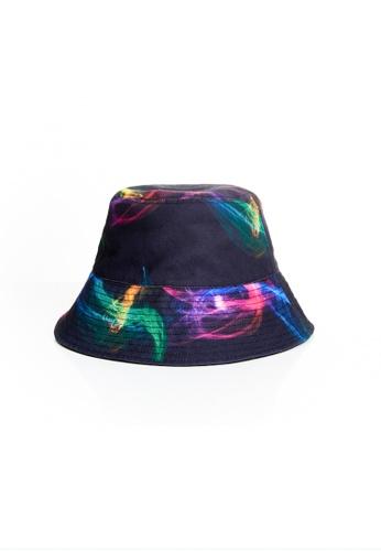 Flawless Flashbacks. black FF Black Smoke Combo Unisex Bucket hat D518CAC84DED04GS_1