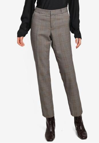 Banana Republic multi Slim Plaid Trousers D3286AA1BCB59AGS_1