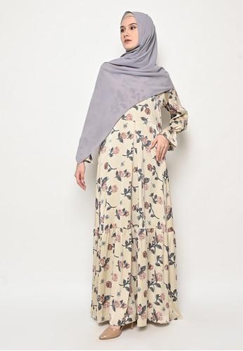 Tazqa Hijrah yellow Jasica Dress 756DDAAF71FF2CGS_1