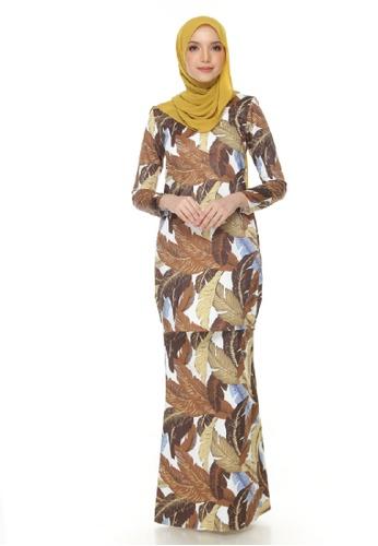 AZIRA KURUNG from Gaffronasir in white and yellow and brown_1