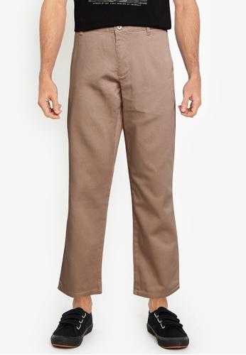 LC Waikiki brown Regular Fit Twill Trousers 117A3AA3EB0828GS_1