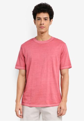MANGO Man red Essential Cotton-Blend T-Shirt 4D295AAE07A722GS_1