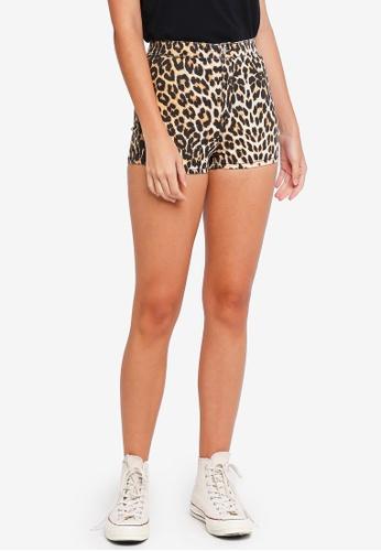 86326d4e812d Buy TOPSHOP Leopard Print Joni Shorts Online | ZALORA Malaysia
