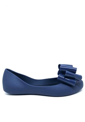 Twenty Eight Shoes 藍色 多重蝴蝶結果凍膠平底鞋 m039-2 3AE4DSH2DB534EGS_1