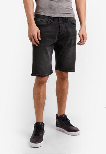 CR7 black Wax Patch Shorts CR532AA71EFWMY_1