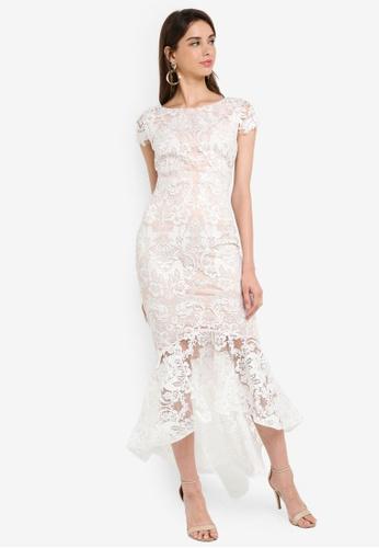 c0d13e6e07 Buy Goddiva Lace High Low Maxi Dress Online | ZALORA Malaysia