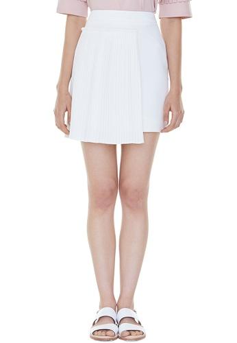 MILLOGREM white Set Pleats Mini Skirt MI241AA0GNUHSG_1