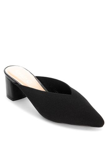 Alberto black Heeled pointed mule sandals 2BD6BSH2970D95GS_1