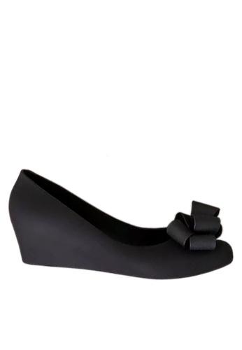 Twenty Eight Shoes black 3D Bow Jelly Wedges VR5105 01496SH3C69FEFGS_1