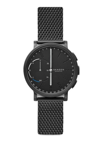 Skagen black Skagen Hagen Connected Steel-Mesh Hybrid Smartwatch SKT1109 SK533AC95KHSMY_1