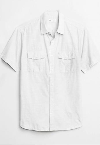 Gap white Short Sleeve Utility Shirt D1424AA3327547GS_1