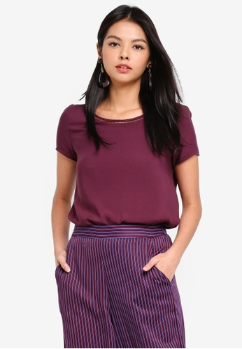 Vero Moda purple Bella Boca Top ABD86AA27FBD49GS_1