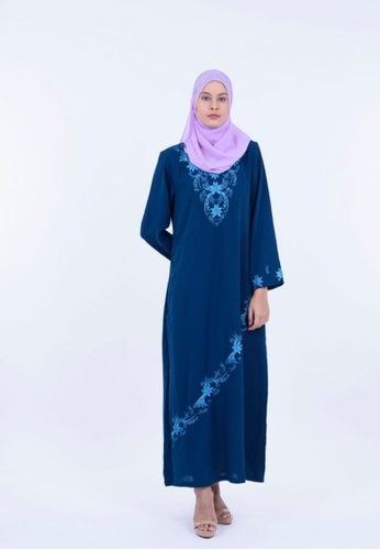 Ladies Jeans navy Jubah Embroidery 48BF8AAB5244E4GS_1