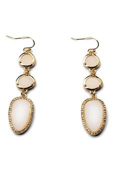 Stella and Dot Allegra Earrings – White