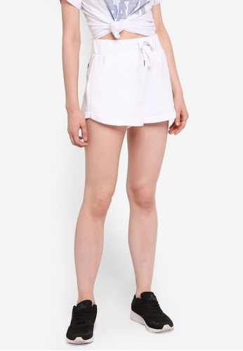 Ivy Park white Chenille Shorts - Wedgewood Logo E1A21AA493C8C2GS_1