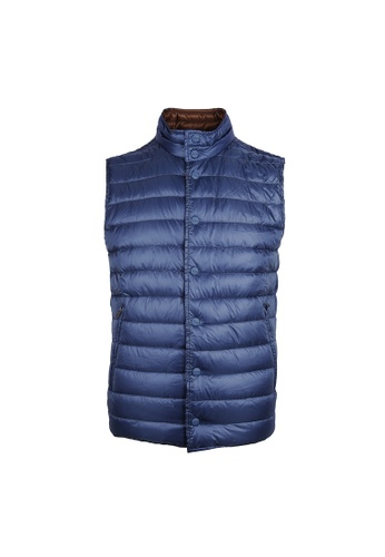 Herno blue Herno Padded Down Vest in Blue F1F53AA17FD3E4GS_1