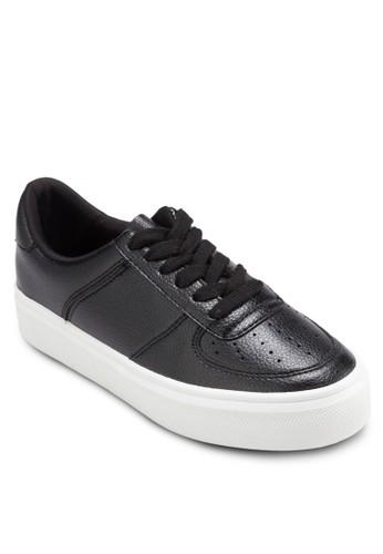 仿皮沖孔繫帶休閒鞋, 女鞋zalora時尚購物網的koumi koumi, 休閒鞋