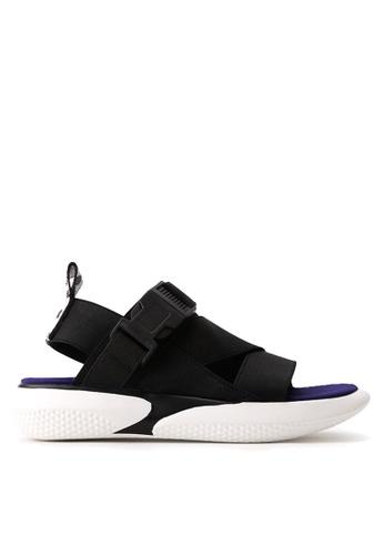 Twenty Eight Shoes 黑色 彈力織帶獨特鞋底涼鞋 VS1848 D27FDSH8399767GS_1