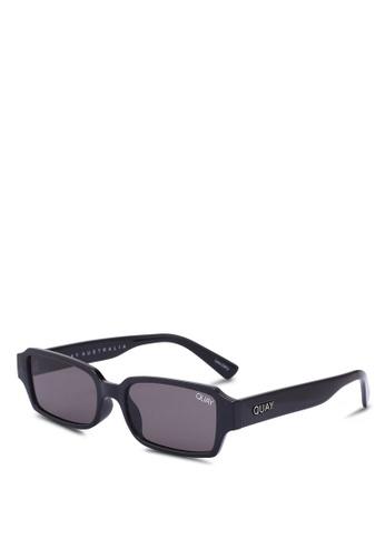 Quay Australia black Strange Love Sunglasses 4C592GL0A0A0A6GS_1