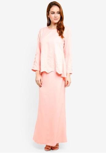 BYN pink Baju Kurung Modern 7B00DAAE9D07B3GS_1