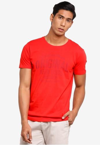 ESPRIT 紅色 短袖T-襯衫 E4AE4AAEFC341AGS_1