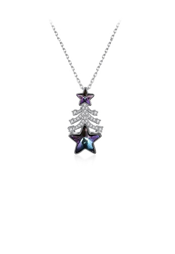 Glamorousky purple 925 Sterling Silver Christmas Tree Pendant with Purple Austrian Element Crystal and Necklace 19738AC4380F2AGS_1