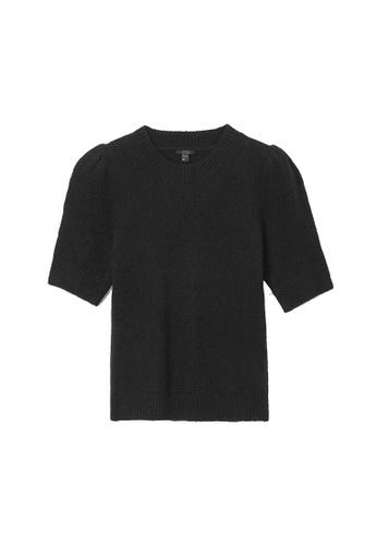 COS black Alpaca-Yak Puff Sleeve Top BCAE2AAC7EF5C8GS_1