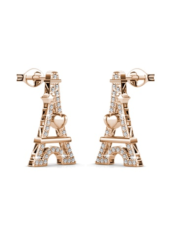 Her Jewellery gold Her Jewellery Paris Love Earrings (Rose Gold) with 18K Gold Plated HE210AC44HHNSG_1