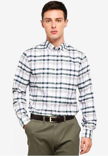 Brooks Brothers 白色 長袖格紋襯衫 0C571AADCFEB99GS_1