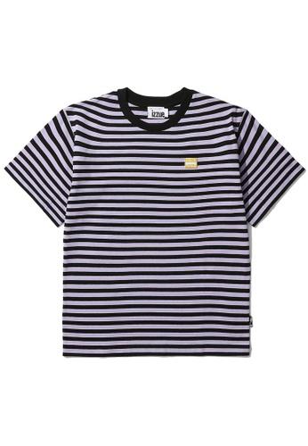 izzue purple Reversed stripe tee 9B77FAA3E8C9AFGS_1