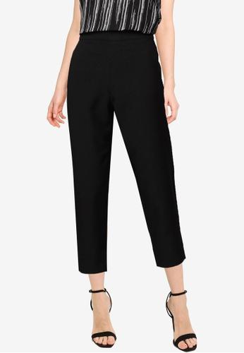 G2000 black Elastic Waist Tapered Pants 14B72AADB2F1C2GS_1