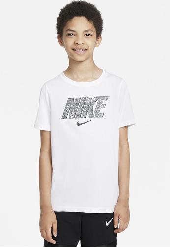 Nike white Boys' Dri-FIT Training T-Shirt 2F2EFKA830EF80GS_1