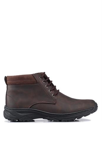 Rocklander brown Matarazo Boots 4D4E6SH39618BAGS_1