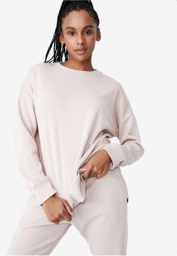 Cotton On Body pink Lifestyle Long Sleeve Crew Sweatshirt 731EEAAAB4CC9DGS_1