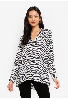 be0e56f31b2 Wallis brown and multi Petite Stone Zebra Print Shirt 328DDAA36DDFDAGS_1