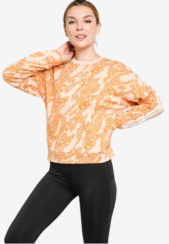 ADIDAS orange sportswear future icons animal-print sweatshirt B6CFFAAF3E46ECGS_1