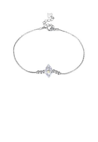 Glamorousky white 925 Sterling Silver Simple Elegant Fashion Cubic Zircon Bracelet 5E375AC356B283GS_1