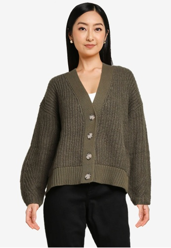 Old Navy green Cozy Shaker Cardigan AB122AA4AF6946GS_1