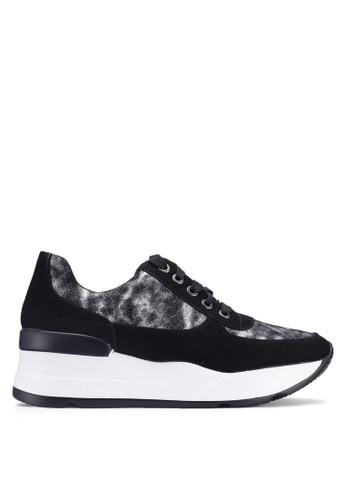 NOVENI black Mixed Textured Sneakers 66C47SH7A5870CGS_1