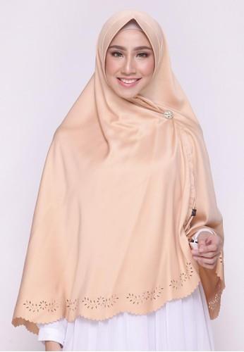 First Hijab beige Saqina Khimar Instant In Beige 9E741AA714970CGS_1