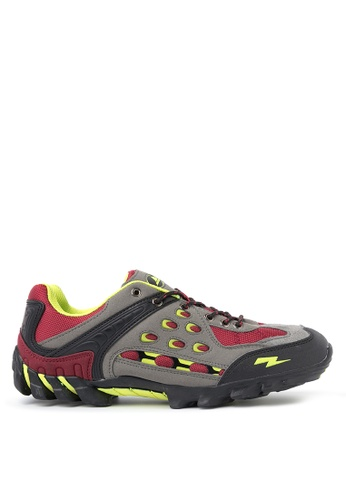 ACCEL black and grey and red and green Latitude Outdoor Shoes AC958SH97KRYPH_1