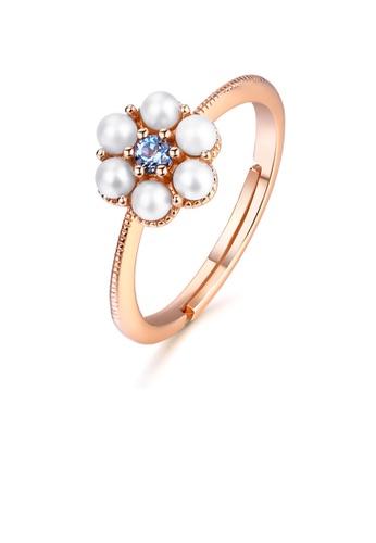 SUNSET gold Premium 925 Sliver Pearl Ring 2FEC1AC4590DBFGS_1