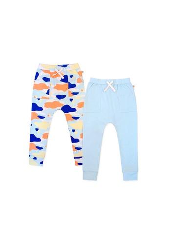 OETEO blue and multi Camo Flash Harem Pants 2-Piece Bundle Set (Blue) C684EKA49D59BAGS_1