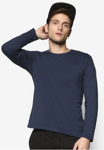 簡約圓領長袖衫, 服飾, esprit鞋子T恤
