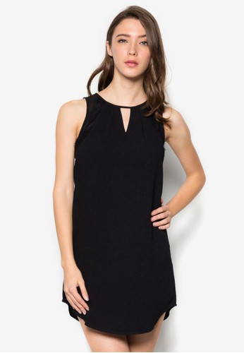 簡約無esprit outlet袖連身裙, 服飾, 短洋裝