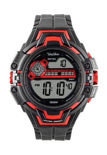 UniSilver TIME black Robostriker Rubber Watch KW1728-1001 UN802AC49HJAPH_1
